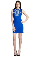Cynthia Steffe tropic lapis 'Natalie' embellished sheath dress