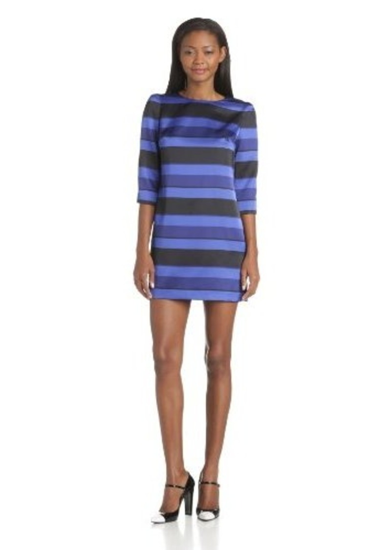 Cynthia Steffe Women's Taylor Stripe 3/4 Sleeve Dress