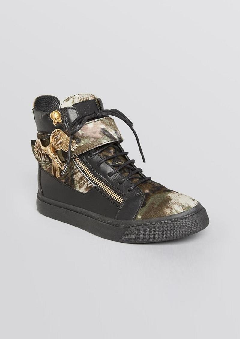 Giuseppe Zanotti Lace Up High Top Sneakers - Devore