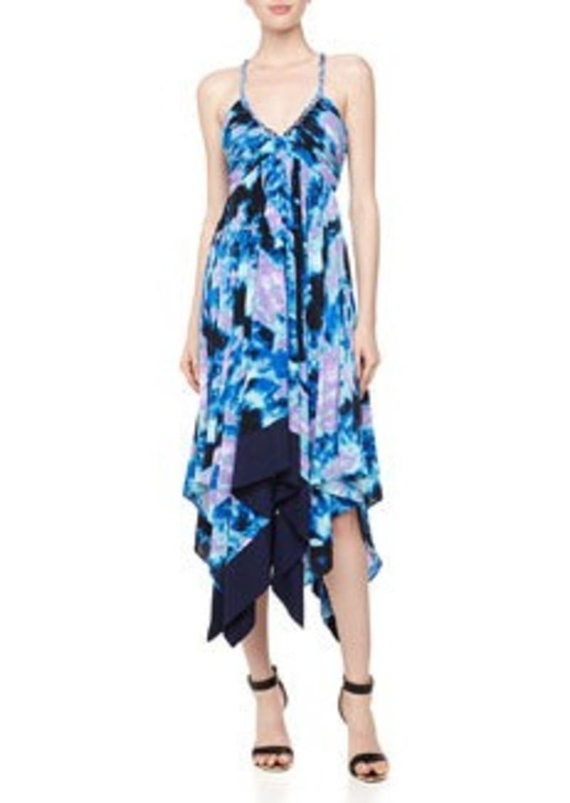 T-Bags T Bags Strappy Handkerchief-Hem Dress, Blue/Multi