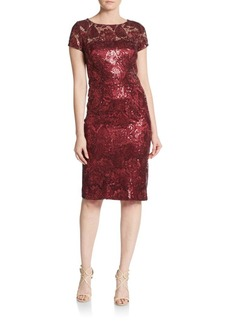 David Meister Sequined Tapestry Dress