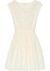 Joie Leilah cotton-eyelet mini dress