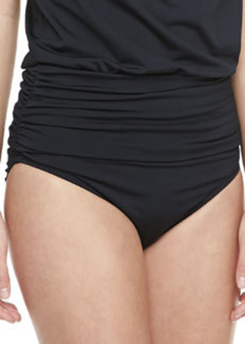 Carmen Marc Valvo Cape Town Ruched Swim Bottom