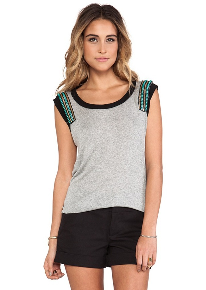 T-Bags LosAngeles Sheer Back Blouse in Gray