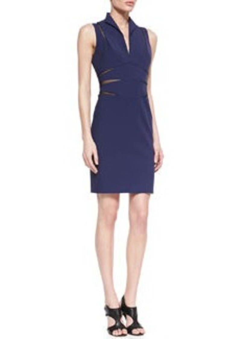 Catherine Malandrino Open-Back Mesh Cutout Cocktail Dress   Open-Back Mesh Cutout Cocktail Dress