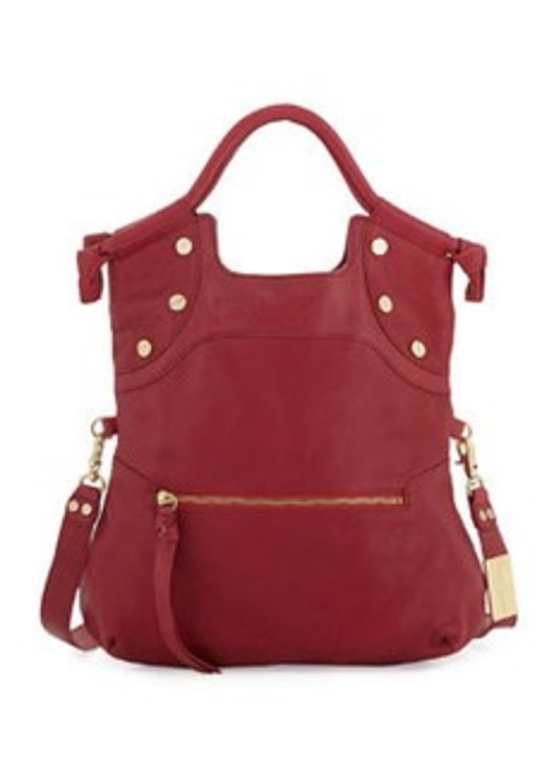 Foley + Corinna Lady Leather Convertible Bag, Lobster