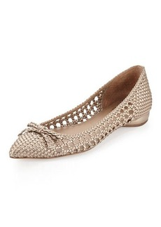 Delman Shana Woven Leather Flat