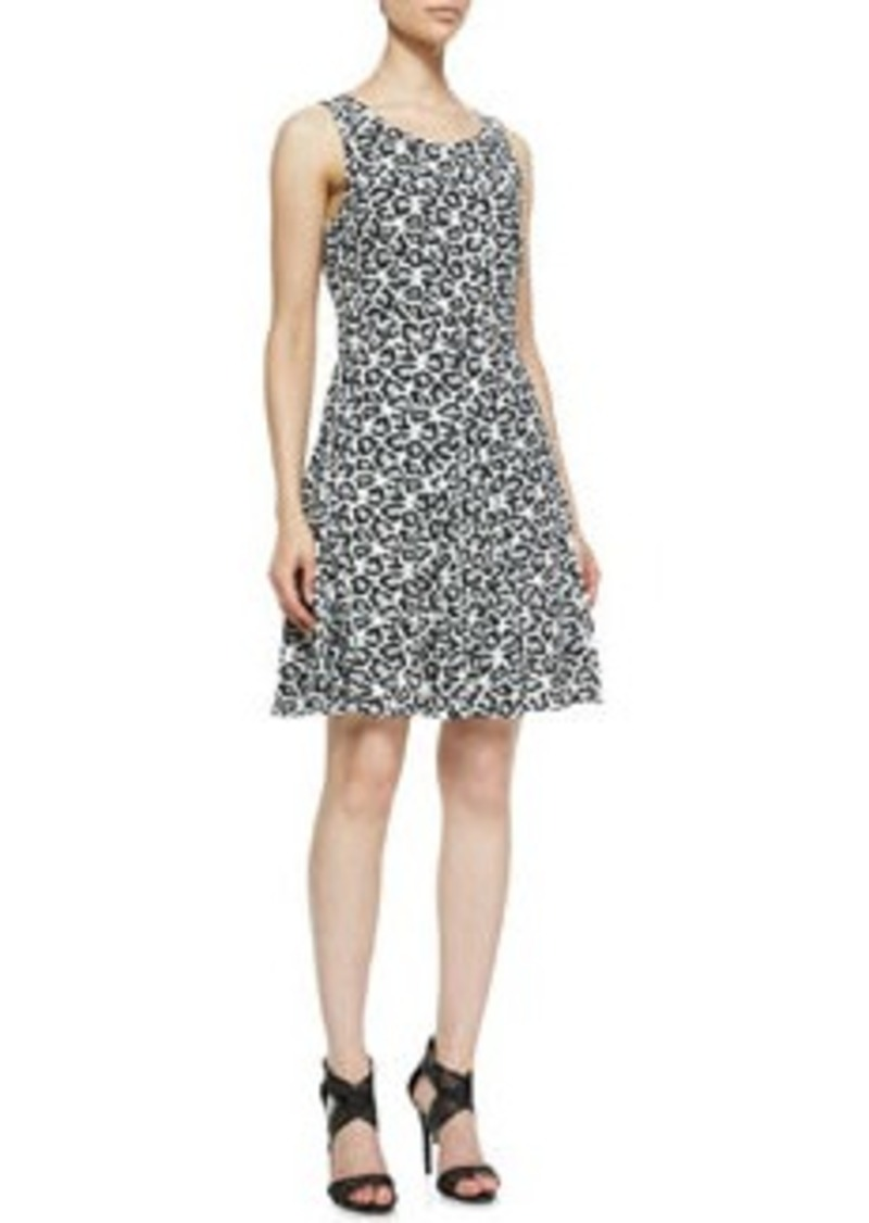 Diane Von Furstenberg Clara Leopard-Print Fit-And-Flare Dress   Clara Leopard-Print Fit-And-Flare Dress