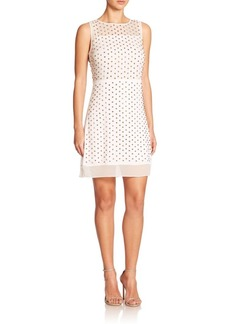 Diane von Furstenberg Abriela Embellished Silk Dress