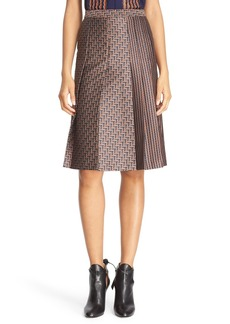 Diane von Furstenberg 'Ava' Print Pleat Skirt