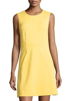 Diane von Furstenberg Capreena Sleeveless A-line Ponte Mini Dress