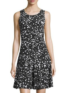 Diane von Furstenberg Clara Floral Sleeveless A-Line Dress