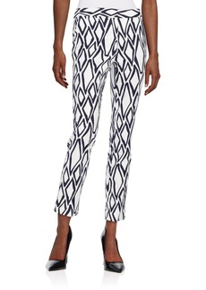 Diane von Furstenberg Genesis Printed Stretch-Cotton Pants