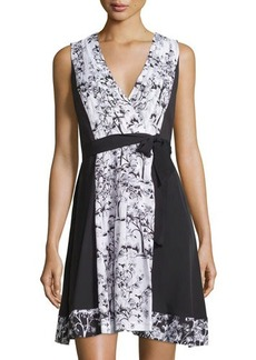 Diane von Furstenberg Kylie Printed Sleeveless Wrap Dress