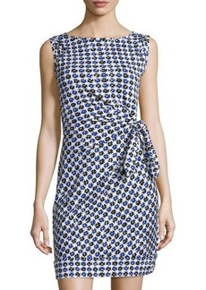 Diane von Furstenberg New Della Gathered Sleeveless Dress