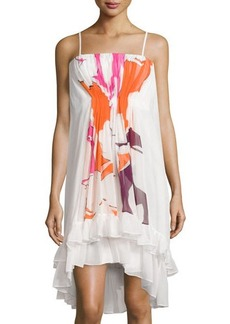 Diane von Furstenberg Sybil Tiered Floral Sleeveless Dress