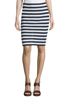 Diane von Furstenberg Walda Striped Knit Pencil Skirt