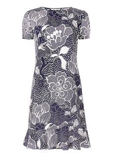 DVF Deon Flounced Shift Dress