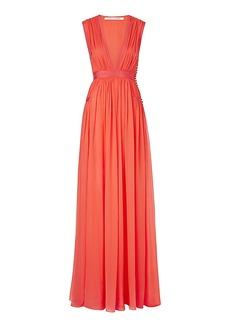 DVF Lelani Pleated Gown