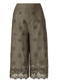 DVF Ravi Cotton Eyelet Coulette Trousers