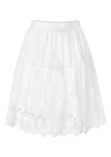 DVF Sadey Cotton Eyelet Full Skirt