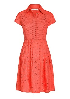 DVF Skylar Eyelet Cotton Shirt Dress