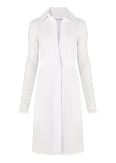 DVF Waldorf Cosmic Lace Cocktail Coat