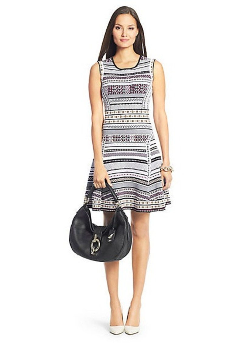 Diane Von Furstenberg Eleanor Knit Fit and Flare Dress