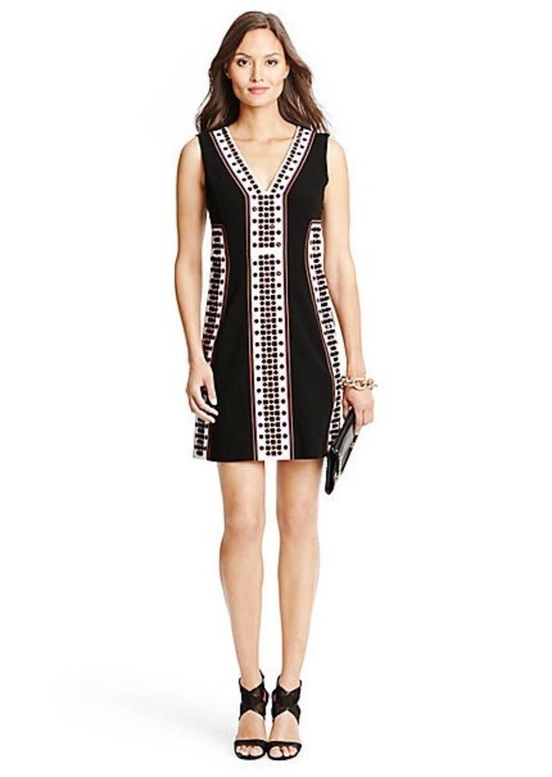 Diane Von Furstenberg Hazel Embellished A-Line Dress