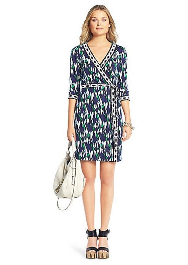 Diane Von Furstenberg New Julian Two Mini Banded Silk Jersey Wrap Dress