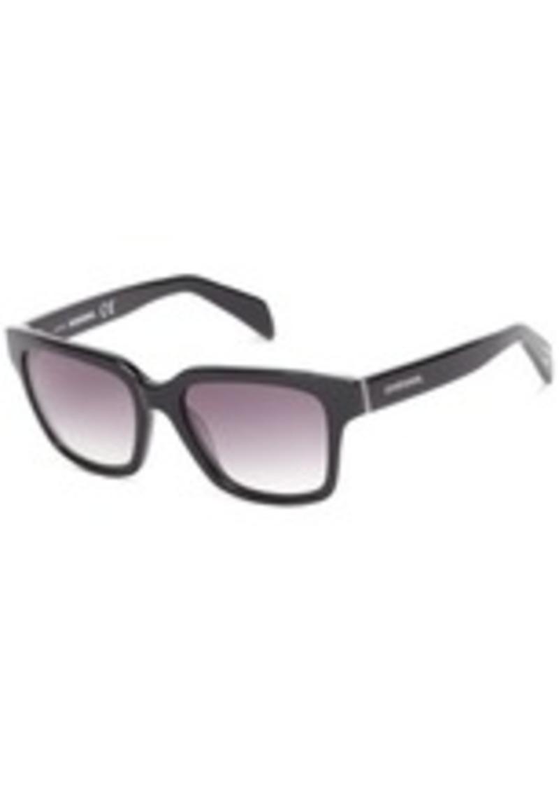 Diesel DL00735405C Wayfarer Sunglasses,Black,54 mm
