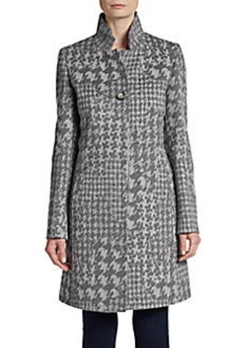Cinzia Rocca Angora/Wool Houndstooth Coat