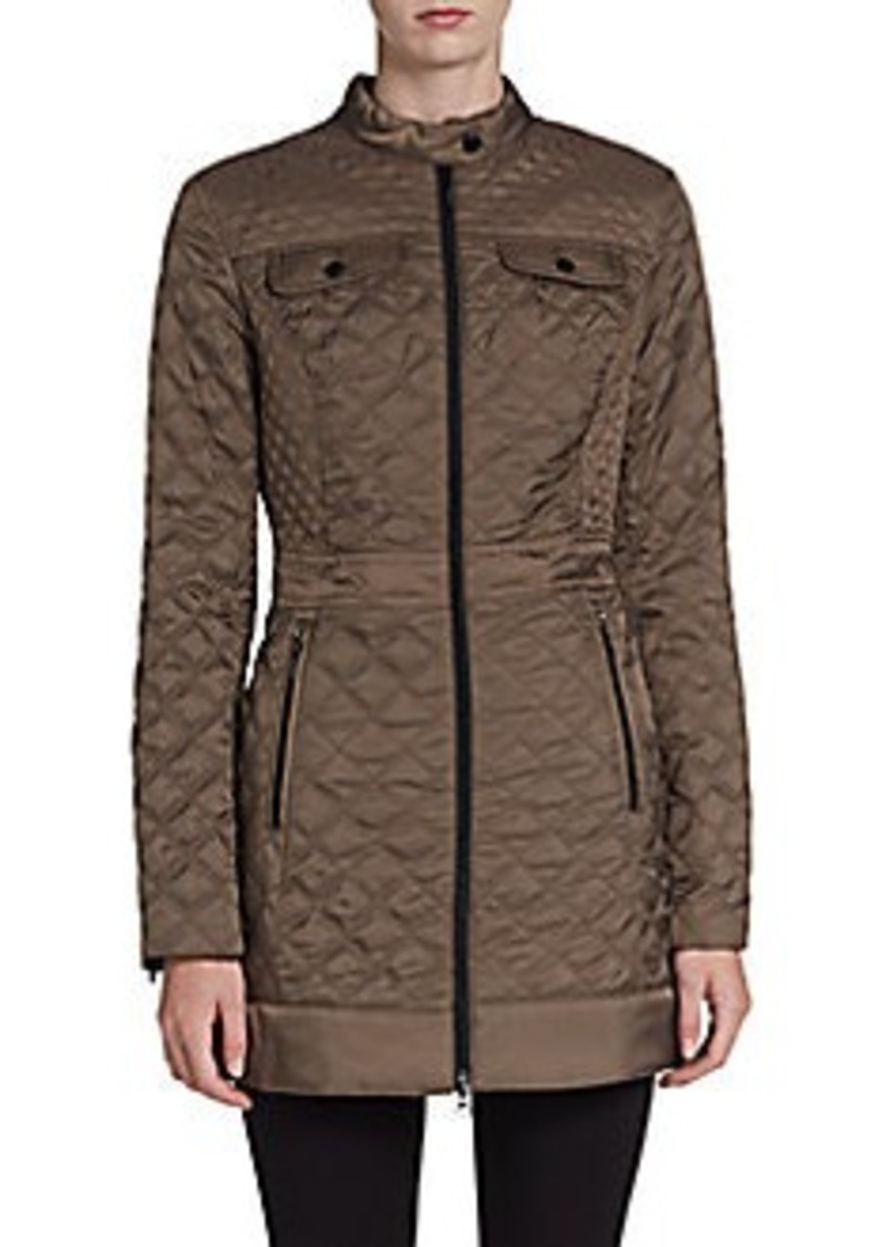 Laundry by Shelli Segal Diamond-Quilted Satin Jacket