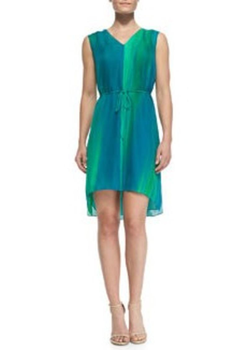 Elie Tahari Dorene Sleeveless High-Low Silk Dress   Dorene Sleeveless High-Low Silk Dress