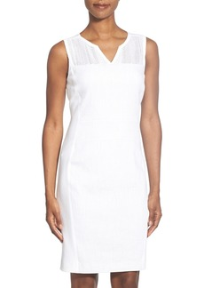 Elie Tahari 'Anya' Mesh Yoke Sheath Dress