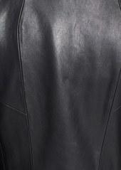 Elie Tahari 'Ariel' Calf Hair Panel Leather Jacket