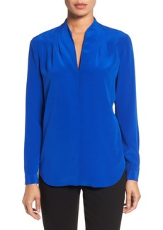 Elie Tahari 'Bea' Split Neck Silk Blouse
