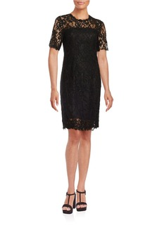 ELIE TAHARI Bellamy Lace-Accented Sheath Dress