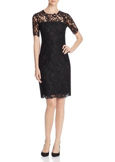 Elie Tahari Bellamy Lace Sheath Dress