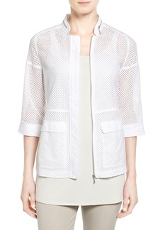 Elie Tahari 'Briar' Cotton Eyelet Jacket