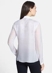 Elie Tahari 'Carmen' Print Double Silk Georgette Blouse