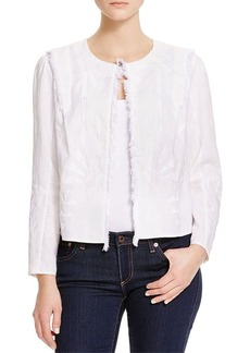 Elie Tahari  Celia Embroidered Linen Jacket