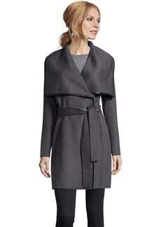Elie Tahari charcoal double face wool 'Portl...