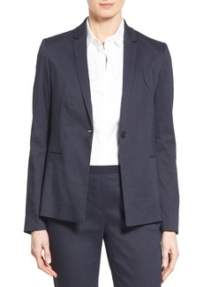 Elie Tahari 'Darcy' Linen Blend One-Button Jacket