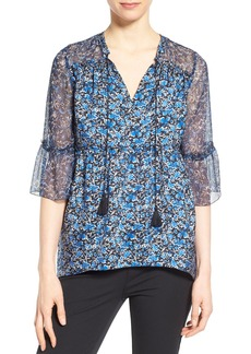 Elie Tahari 'Dayna' Silk Chiffon High/Low Blouse