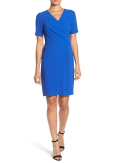 Elie Tahari 'Deandra' Pleated Front Faux Wrap Sheath Dress