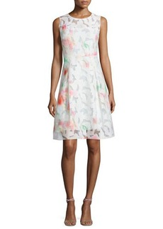 Elie Tahari Dorinda Sleeveless Round-Neck Dress. Flash  Dorinda Sleeveless Round-Neck Dress. Flash