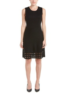 Elie Tahari Elie Tahari Wool A-Line Dress