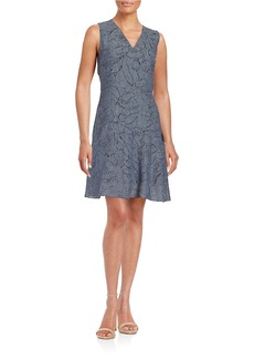 ELIE TAHARI Elliot Fit-and-Flare Dress