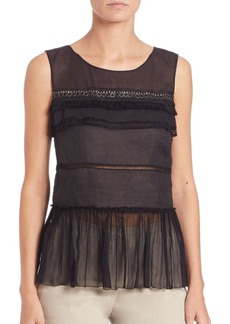 Elie Tahari Faye Sleeveless Blouse